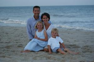 pic of family at beach