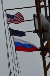 US/AK/Russian Flags