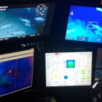 4 ROV pilot monitors