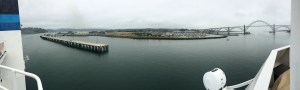 View of the Hatfield Marine Science Center and NOAA dock as the Shimada pulled away.