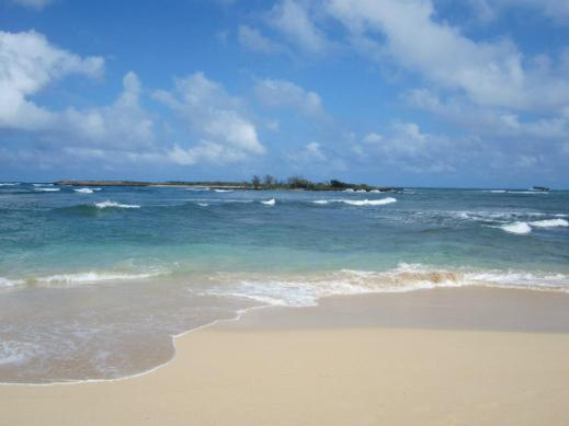 The Pacific Ocean as seen from Malaekahana Beach. I will have a different view soon!
