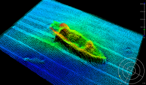 Image of the sunken ship, USS Monitor