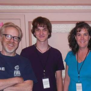 My son and I with Mythbuster Adam Savage! STEAM Awesomeness!