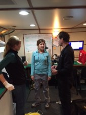 Sarah, Cheryl, and Bob discuss the ROV's findings