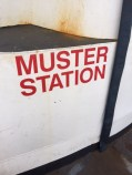 What is a muster station?