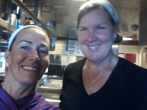 Chief steward Kathy B and me