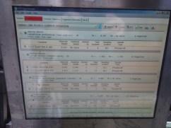 Processing Data Screen
