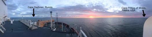 The Bering Strait at sunrise
