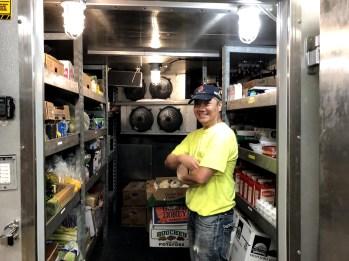 Arnold and fridge