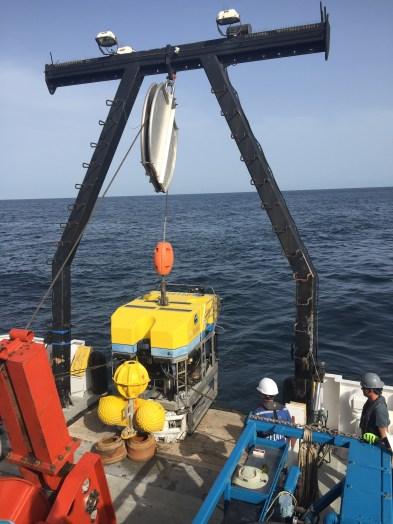 Launching the ROV