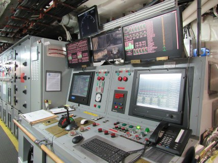 Control panel in the Engine Room