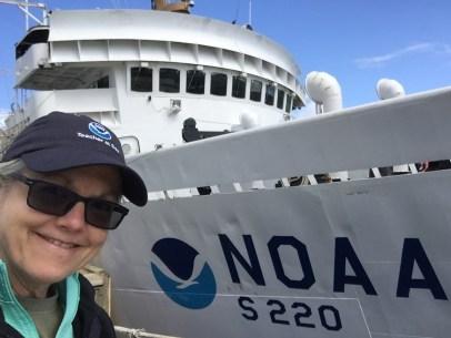 Arriving at NOAA Ship Fairweather