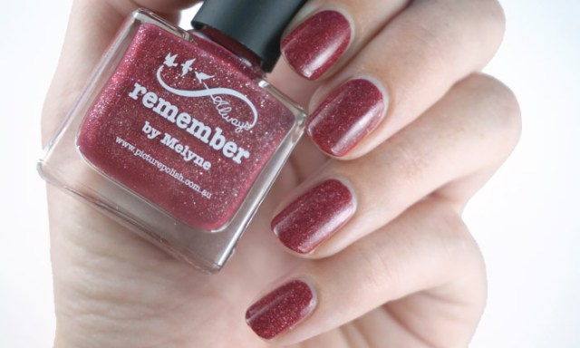 swatch of picture polish remember