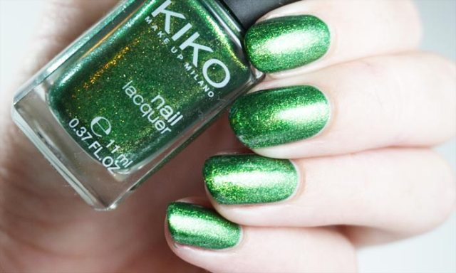 Swatches of kiko 533 with glossy topcoat
