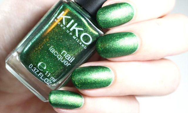 swatches of kiko - 533 with catrice silk matt topcoat