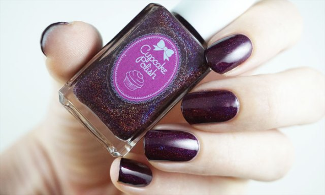 swatch of cupcake polish bloodhound with indirect light