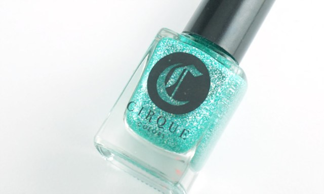 bottle shot of the aqua blue cirque colors Paraiba