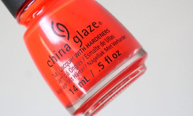 bottle of china glaze pool party