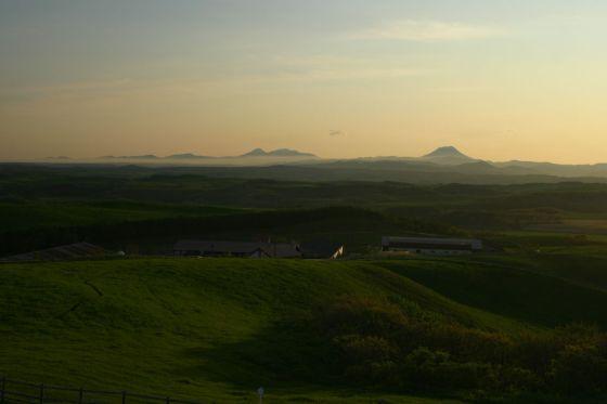 多和平展望台から雄阿寒岳を望む