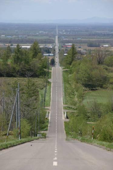 知床・斜里町「天に続く道」 国道334号線+αの直線道路