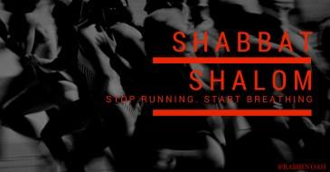 Stop running. Start Breathing.
