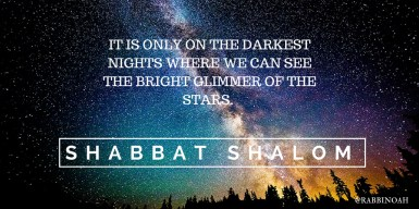 It is only on the darkest nights where we can see the bright glimmer of the stars.