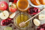 Rosh Hashana, Jewish New Year Holiday, honey, apple, pomegranate, hala