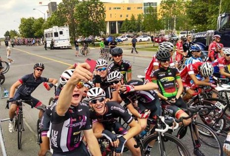 l'Abitibi 2014: P Diddy the start line selfie king.