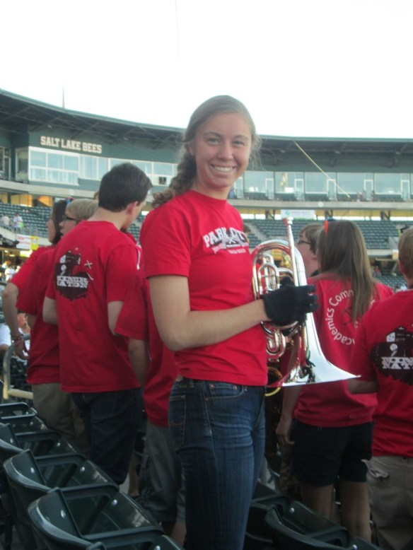 Lindsey Adams Playing at Salt Lake Bees Game