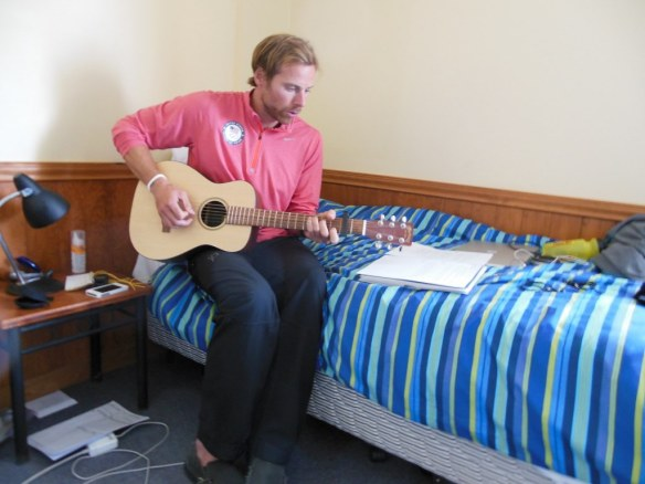 Andy Newell Playing Guitar