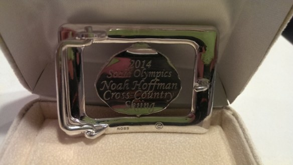 Noah Hoffman Olympic Belt Buckle