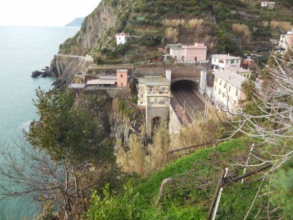 Short Train Stations in Riomaggiore, Italy