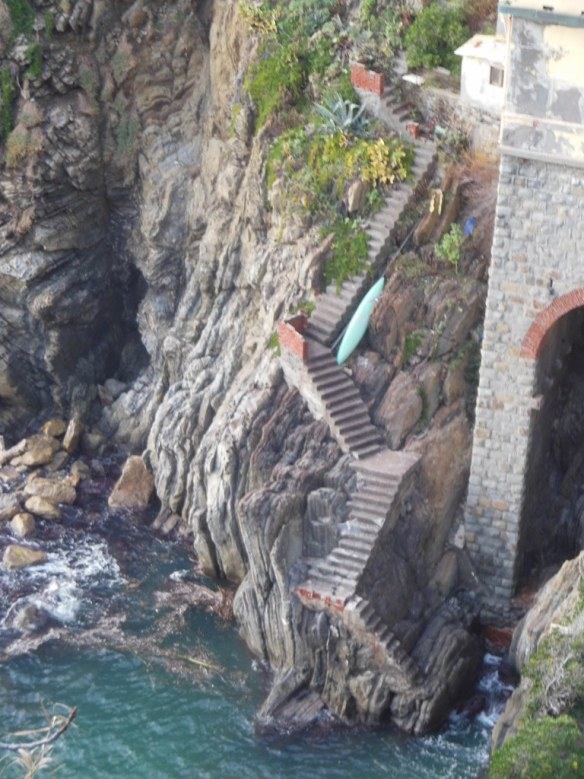 Staircase to Water in Riomaggiore, Italy