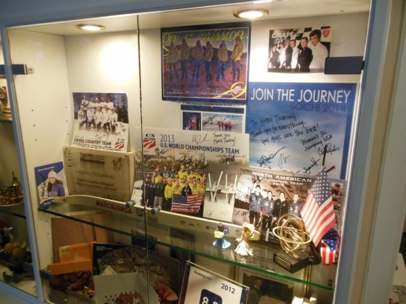Hotel Touring U.S. Ski Team Display