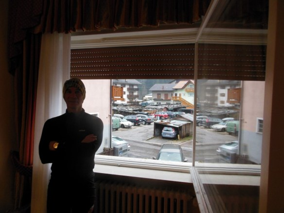 Mike Hoffman in Front of Massive Hotel Touring Window