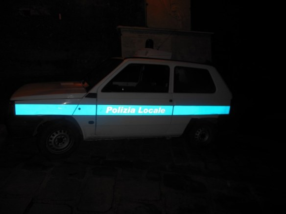 Stereotypical Italian Police Car