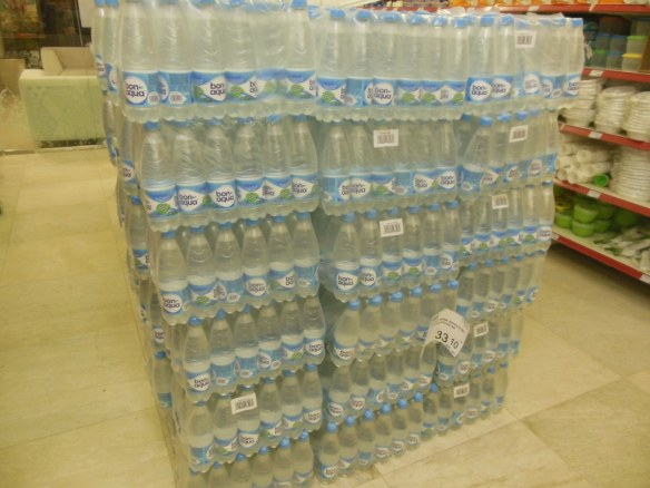 Water in Olympic Village For Sale in Grocery Store