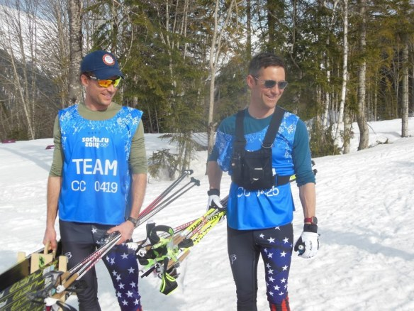 Matt Whitcomb and Chris Grover Testing Skis in Sochi 2014