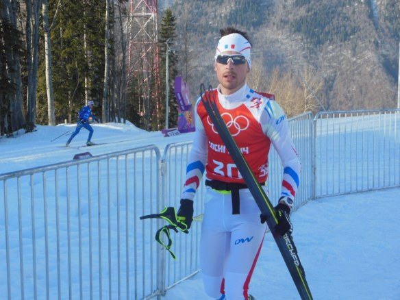 Nordic Combined Athlete on Olympic Cross Country Trails