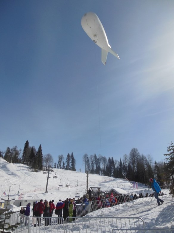 Sochi Blimp Coming Down after 50km race