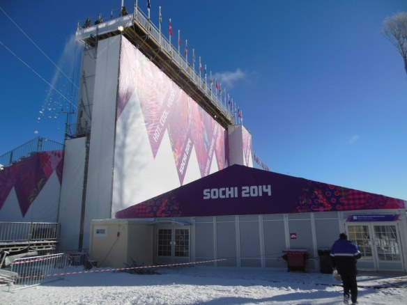 Sochi 2014 Grandstand from Back Cross Country