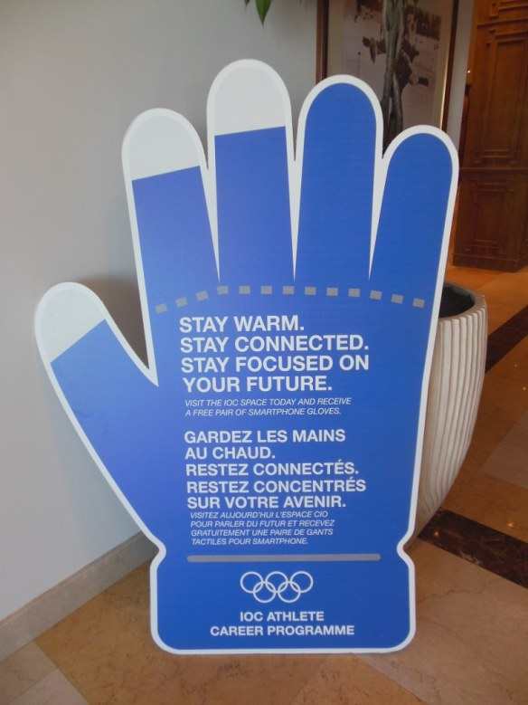 Advertisement in Sochi for Olympic Athletes