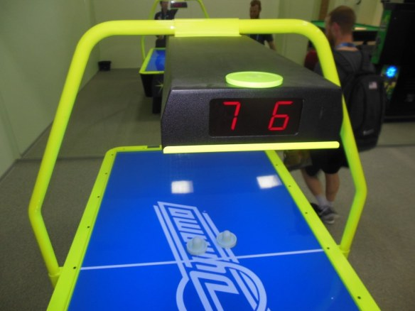Close Olympic Air Hockey Score