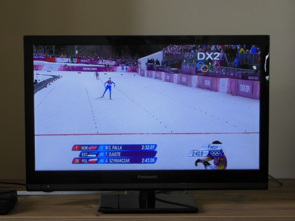 Watching Olympic Sprint Qualifier from Olympic Village