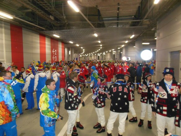USA Endurance Village Athletes in Opening Ceremonies Staging Area