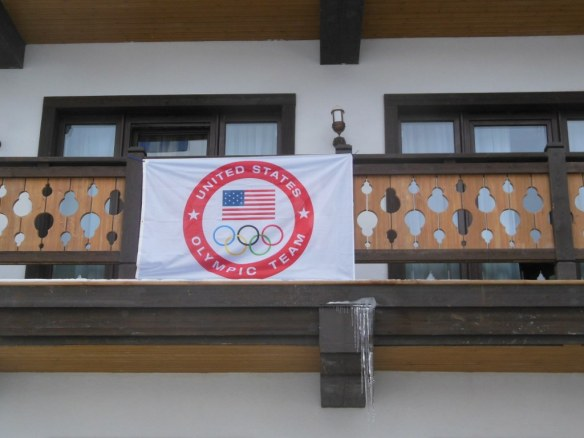 USOC Flag on Sochi Olympic Housing