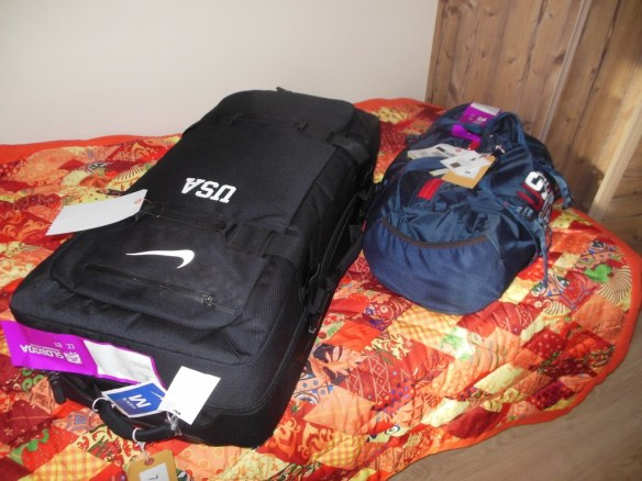 US Olympic Team Nike and Ralph Lauren Duffle Bags in Sochi