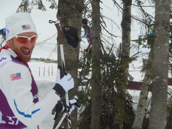 Brian Gregg before 30 kilometer skiathlon Olympic Race