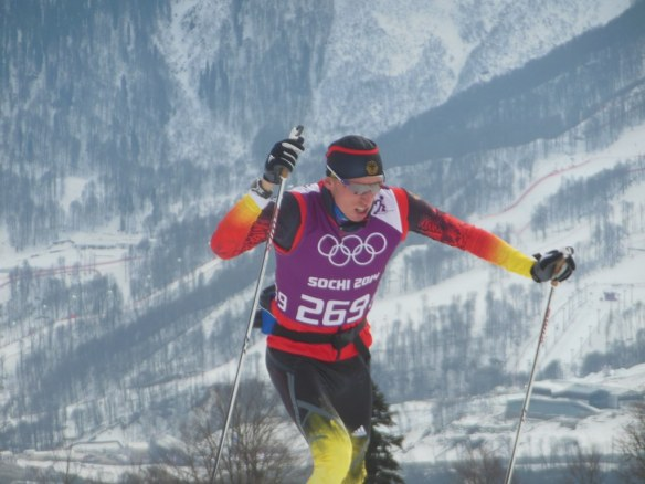Tim Tscharnke Skiing in Sochi, Russia Olympic Venue