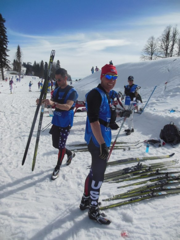 Chris Grover and Peter Johansson at Sochi Olympic Trails